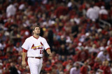 Milwaukee Brewers v St. Louis Cardinals - Game Three, St Louis, MO - October 12: David Freese Photographic Print by Christian Petersen