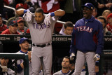 Texas Rangers v St Louis Cardinals, St Louis, MO - Oct. 27: Yorvit Torrealba and Ron Washington Photographic Print by Jamie Squire