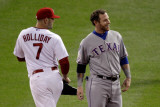 Texas Rangers v St Louis Cardinals, St Louis, MO - Oct. 27: Matt Holliday and Josh Hamilton Photographic Print by Rob Carr