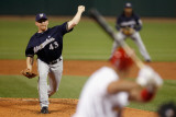 Milwaukee Brewers v St. Louis Cardinals - Playoffs Game Four, St Louis, MO - October 13: Randy Wolf Photographic Print by Pool .