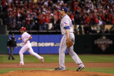 Texas Rangers v St Louis Cardinals, St Louis, MO - Oct. 27: Lance Berkman and Colby Lewis Photographic Print by Ezra Shaw