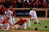 2011 World Series Game 6 - Texas Rangers v St Louis Cardinals, St Louis, MO - Oct. 27: David Freese Fotografisk tryk af Rob Carr