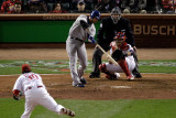 Texas Rangers v St Louis Cardinals, St Louis, MO - Oct. 27: Josh Hamilton and Jason Motte Photographic Print by Rob Carr 