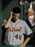 Detroit Tigers v Texas Rangers - Playoffs Game Six, Arlington, TX - October 15: Rick Porcello Fotografisk tryk af Harry How