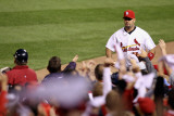 Milwaukee Brewers v St Louis Cardinals - Game Five, St Louis, MO - October 14: Albert Pujols Photographie par Christian Petersen