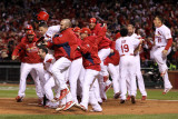 2011 World Series G. 6 - Texas Rangers v St Louis Cardinals, St Louis, MO - Oct. 27: Yadier Molina Photographic Print by Ezra Shaw