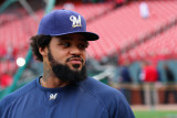 Milwaukee Brewers v St Louis Cardinals - Game Five, St Louis, MO - October 14: Prince Fielder Photographic Print by Dilip Vishwanat