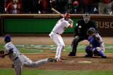 Texas Rangers v St Louis Cardinals, St Louis, MO - Oct. 27: Lance Berkman and Neftali Feliz Photographic Print by Rob Carr
