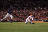 Brewers v St. Louis Cardinals - G. Four - Oct. 13: Fernando Salas and Yuniesky Betancourt Photographic Print by Jamie Squire