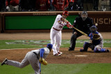 2011 G. 6 - Texas Rangers v St Louis Cardinals, St Louis, MO - Oct. 27: Jon Jay and Darren Oliver Photographic Print by  Rob Carr