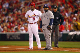 Brewers v St. Louis Cardinals - G. Three, St Louis, MO - Oct. 12: Albert Pujols and Prince Fielder Photographic Print by Dilip Vishwanat