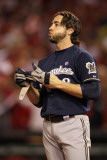 Milwaukee Brewers v St Louis Cardinals - Playoffs Game Five, St Louis, MO - October 14: Ryan Braun Photographic Print by Jamie Squire