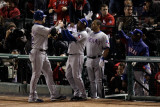 Texas Rangers v St Louis Cardinals, St Louis, MO - Oct. 27: Josh Hamilton and Esteban German Photographic Print by Rob Carr 
