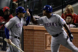Texas Rangers v St Louis Cardinals, St Louis, MO - Oct. 27: Ian Kinsler and Adrian Beltre Photographic Print by  Rob Carr