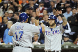 Texas Rangers v Detroit Tigers - Game Five, Detroit, MI - October 13: Nelson Cruz and Mike Napoli Photographic Print by Harry How
