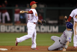 Texas Rangers v St Louis Cardinals, St Louis, MO - Oct. 27: Rafael Furcal and Michael Young Photographic Print by Ezra Shaw