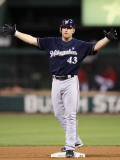 Milwaukee Brewers v St. Louis Cardinals - Playoffs Game Four, St Louis, MO - October 13: Randy Wolf Photographic Print by Christian Petersen