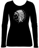 Women's Long Sleeve: Native American Indian T-Shirt