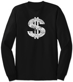 Long Sleeve:  Dollar Sign T-shirts