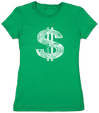 Juniors: Dollar Sign T-Shirt