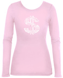 Women's Long Sleeve: Dollar Sign T-Shirt