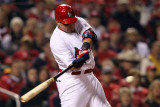 2011 World Series Game 7 - Rangers v Cardinals, St Louis, MO - October 28: Yadier Molina Photographic Print by Jamie Squire