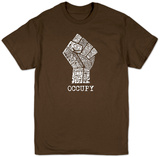 Occupy Wall Street Fight The Power Fist T-skjorter