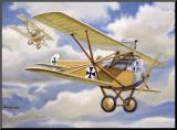WWI, German Albatross Biplane Mounted Print by Robert Mascher