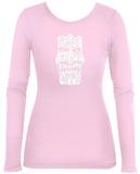 Womens Long Sleeve: Big Kahuna Tiki T-Shirt