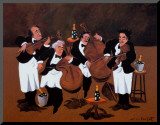 Quartet Mounted Print by Guy Buffet