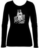 Womens Long Sleeve: Astronaut Word Art Womens Long Sleeves