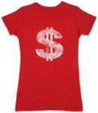 Juniors: Dollar Sign Shirt