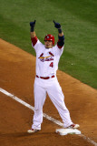 2011 World Series Game 7 - Rangers v Cardinals, St Louis, MO - October 28: Yadier Molina Photographic Print by Dilip Vishwanat