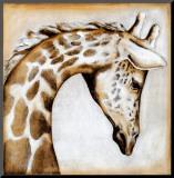 Serengeti Giraffe Monteret tryk af Susan Hartenhoff