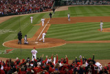 Game 7 - Rangers v Cardinals, St Louis, MO - October 28: Rafael Furcal and C.J. Wilson Photographic Print by Doug Pensinger