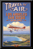Travel by Air Mounted Print by Kerne Erickson