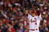 2011 World Series Game 7 - Rangers v Cardinals, St Louis, MO - October 28: Yadier Molina Photographic Print by Ezra Shaw