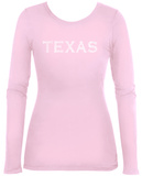 Women's Long Sleeve: Texas Cities T-Shirt