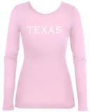 Womens Long Sleeve: Texas Cities T-Shirt