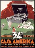Portable Phonograph, Casa America パネルプリント : アシール・ルチアーノ・モウザン