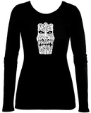 Womens Long Sleeve: Big Kahuna Tiki Womens Long Sleeves