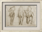 Jockeys Framed Giclee Print by Edgar Degas