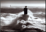 Tempete sur l'Iroise Mounted Print by Guillaume Plisson