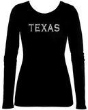 Womens Long Sleeve: Texas Cities Womens Long Sleeves