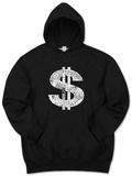 Hoodie: Dollar Sign Pullover Hoodie