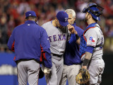 Game 7 - Rangers v Cardinals, St Louis, MO - October 28: Mike Gonzalez and Ron Washington Photographic Print by Ezra Shaw