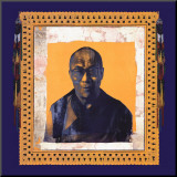 His Holiness the Dalai Lama I Mounted Print by Hedy Klineman