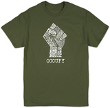 Occupy Wall Street Fight The Power Fist Shirt