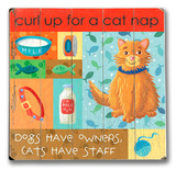 Cat Nap Wood Sign