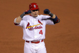 2011 World Series Game 7 - Rangers v Cardinals, St Louis, MO - October 28: Yadier Molina Photographic Print by Doug Pensinger